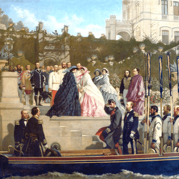 Cesare Dell'Acqua (1821-1905), Arrival of Elizabeth of Austria in Miramare, oil on canvas, 1865