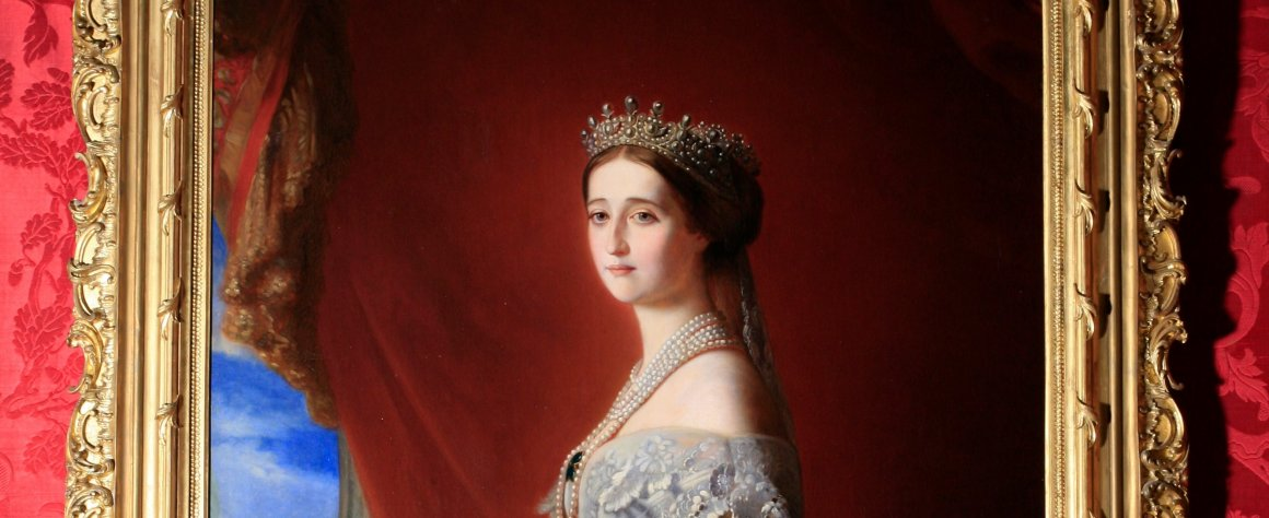 Copy after F.X. Winterhalter (1805-1873), Portrait of Empress Eugenia de Montijo. Oil on canvas, pre-1868.