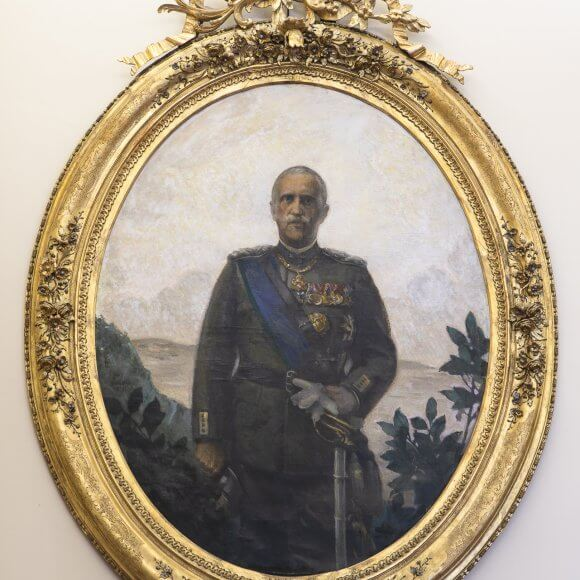 Gino Parin (1826-1944), Portraits of Victor Emmanuel III, King of Italy, and Queen Elena of Montenegro. Oil on canvas, 1930-31